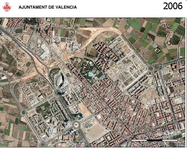 Avenida de les Corts Valencianes año 2006