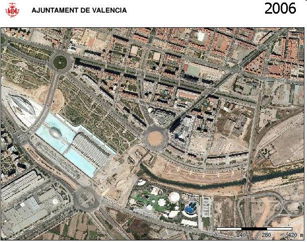 Zona Ciutat de les Arts i les Ciencies.
