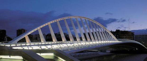 Uno de los puentes de Santiago Calatrava construido en laciudad de Valencia.